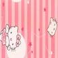 集成墙板 粉色叮当猫